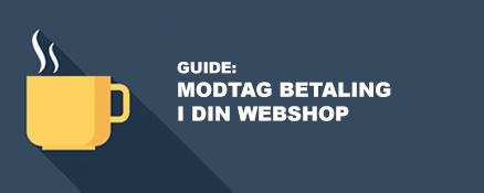 Guide: Modtag betaling i din webshop<br>