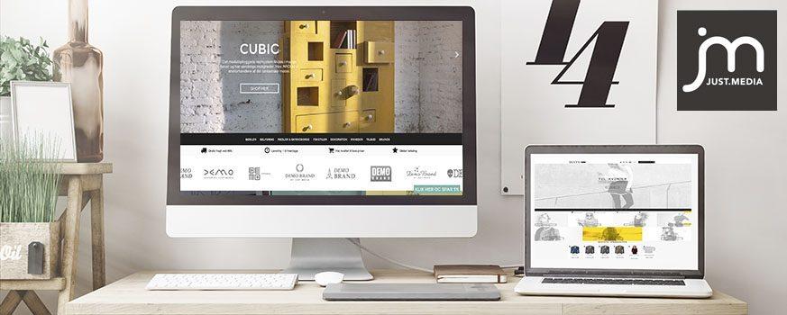 Nyt JUST.MEDIA design i vores DesignStore